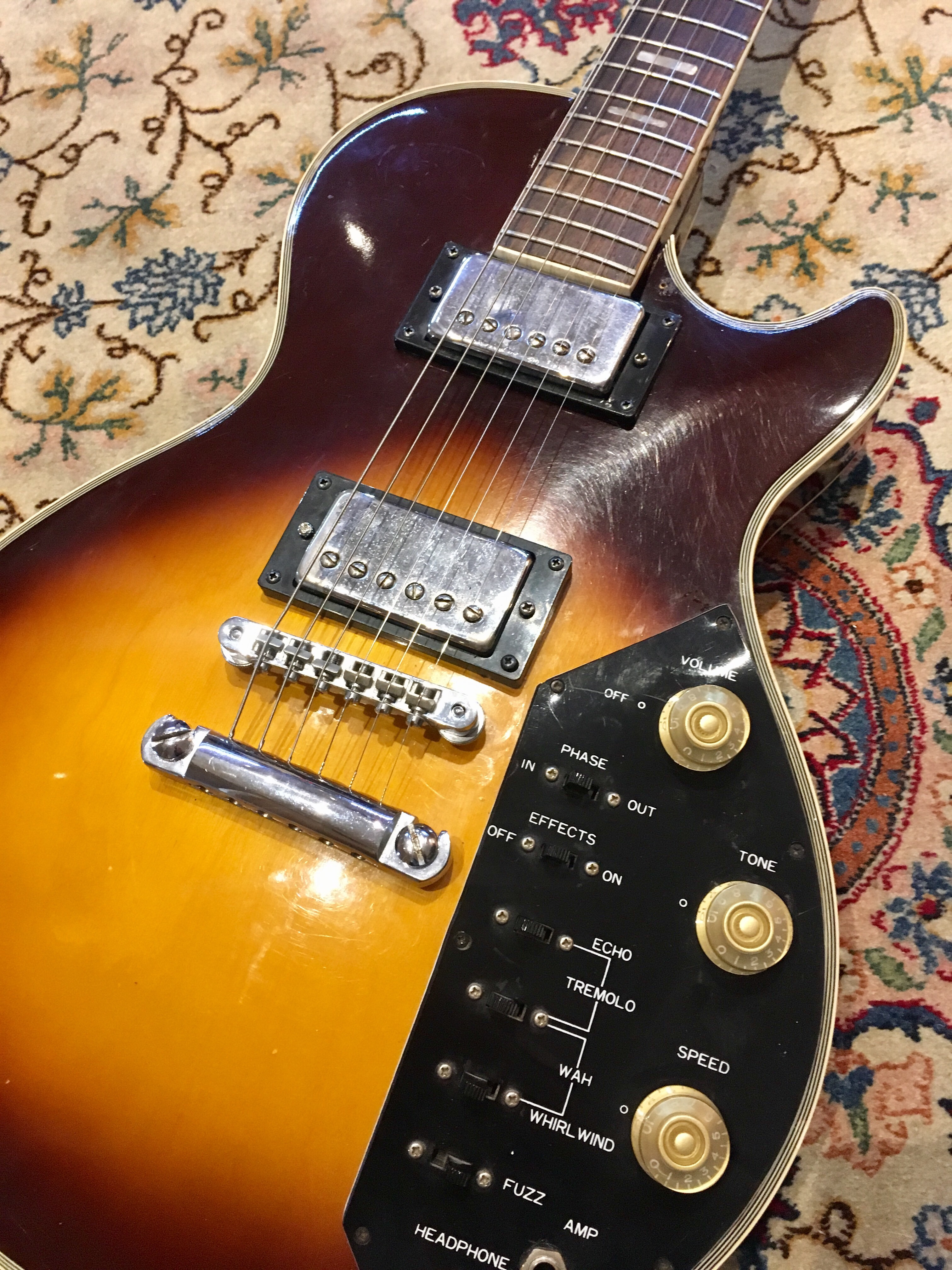 Vintage Music Gear Demos And Reviews Sears Silver Tone Guitar On Schematic Of Electric Tremolo They Create Harsh Tones Doesnt Really Provide Anything Useful Although The Whirl Wind Effect Can Be Fun For An Auto Wah Style Sound